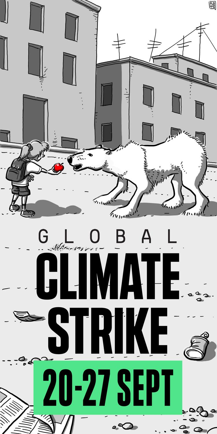 Global Climate Strike poster